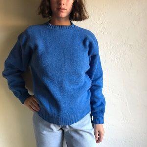 [vintage] *deadstock* wool cerulean blue sweater